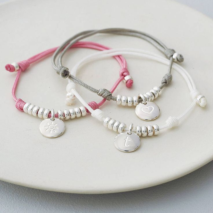Personalised Silky Cord Friendship Bracelet from notonthehighstreet.com