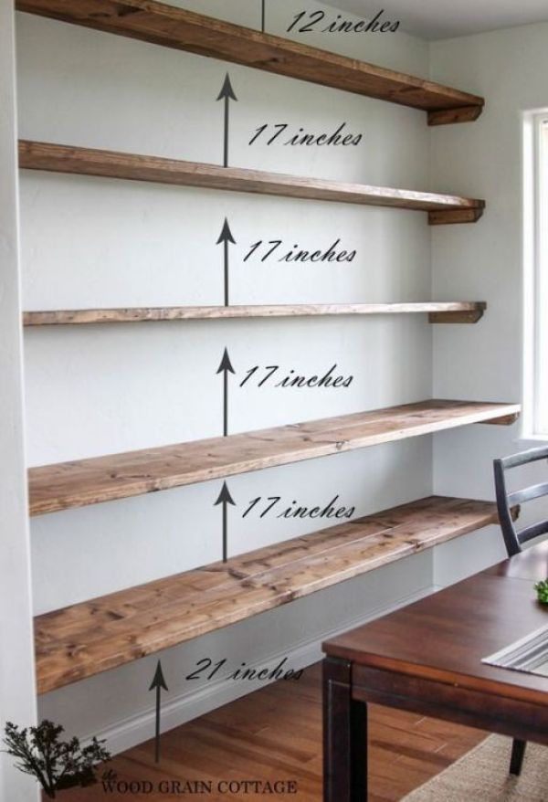 90 Bright Diy Floating Shelf Ideas To Maximize Your Space Diy Dining Room Bookshelves Diy Diy Dining