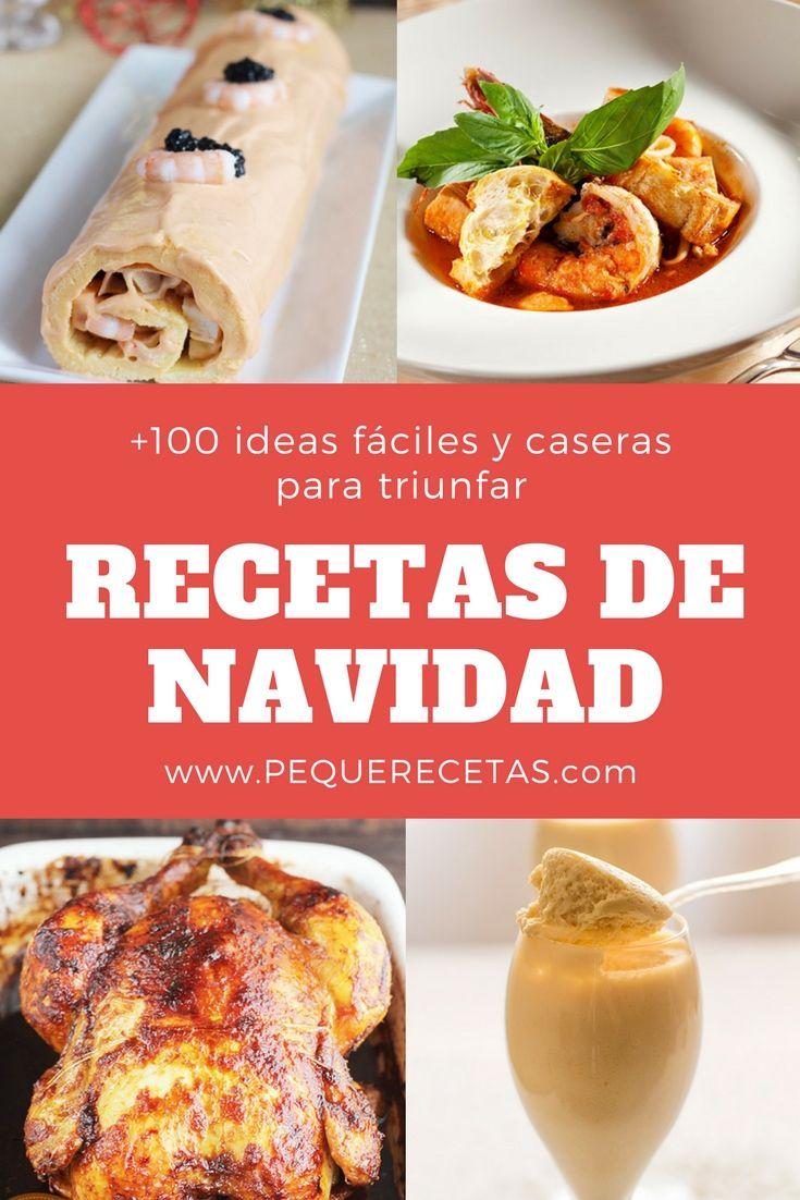 Más de 100 RECETAS DE NAVIDAD FÁCILES: entrantes, aperitivos, carnes, recetas navideñas para niños, postres de Navidad...