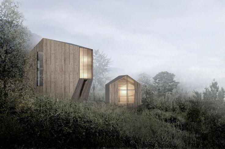 Idealne schronienie na weekend? Norweska pracownia Reiulf Ramstad Arkitekter wychodzi z ciekawym pomysłem. Architekci zaproponowali zabudowę malowniczej doliny Røldal drewnianymi domkami. Budynki maja zr