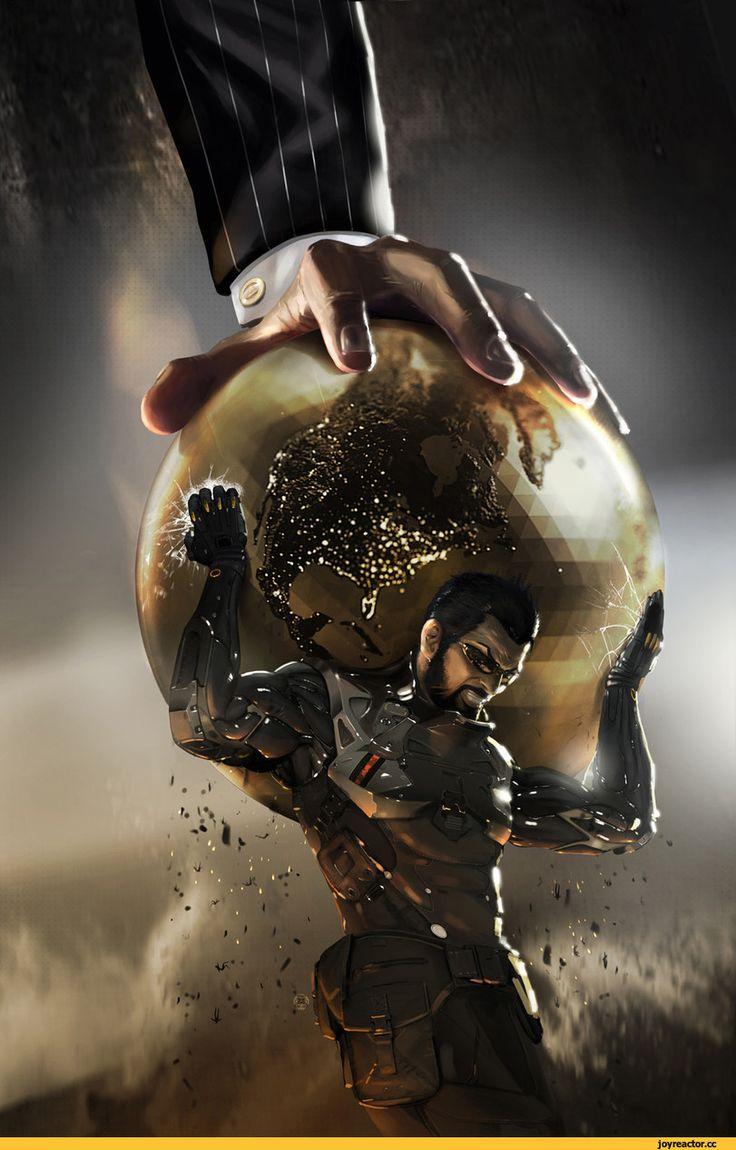 cyberpunk,Deus Ex,Игры,Игровой арт,game art