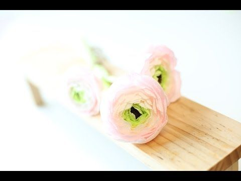 Paper Flowers - Ranunculus / Persian Buttercup (Flower # 22) - YouTube
