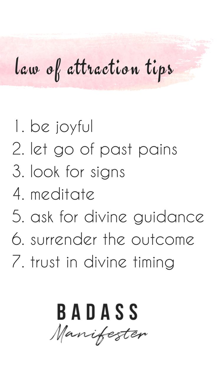 Law of attraction tips. Let go of past pains. Forg…