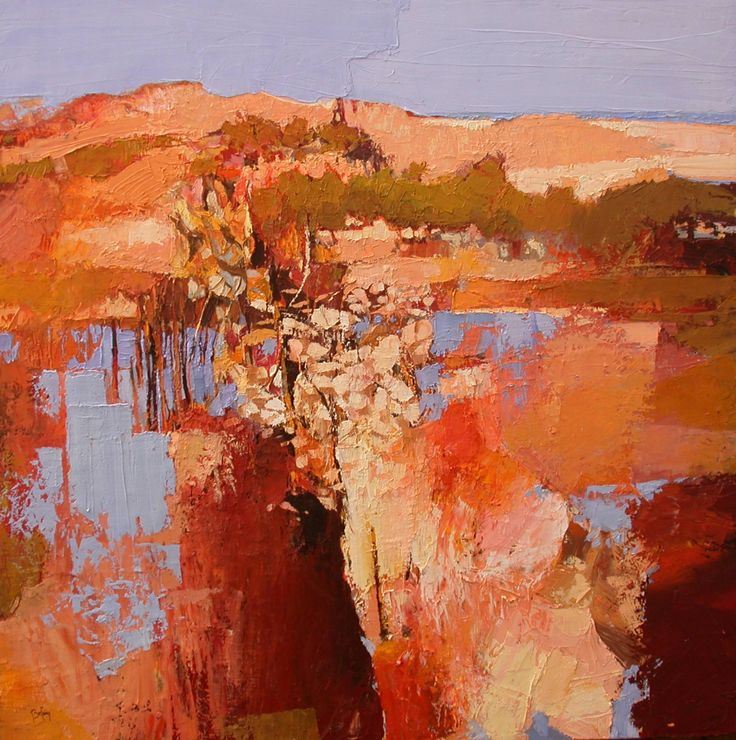 "Saatchi Art Artist: Alex Bertaina; Oil 2003 Painting ""Colline vers la mer"""