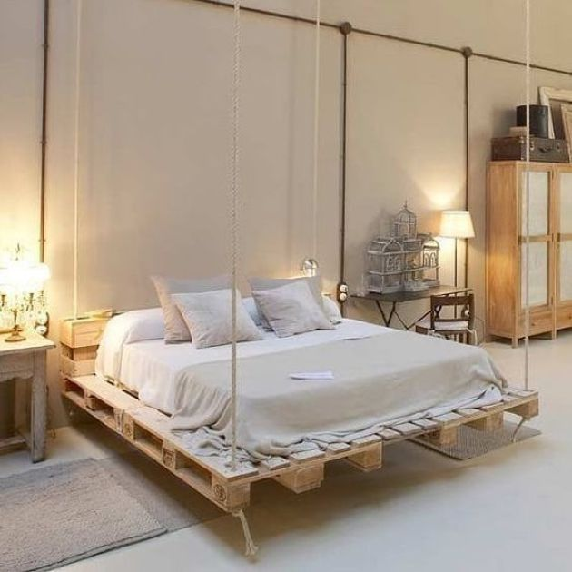 Hanging Wooden Pallet Bed Diy Pallet Bed Wooden Pallet Beds Pallet Designs