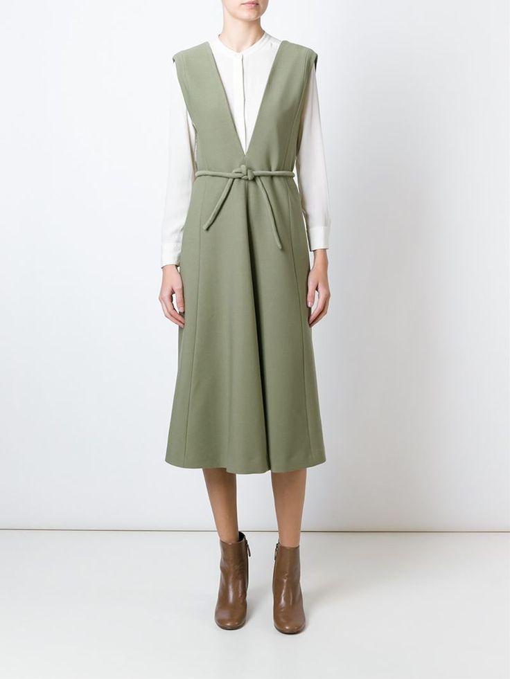 lemaire Plunging V-neck Belted Dress - Google Search