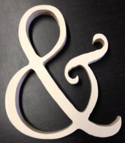 Ampersand sign for pictures. $2.75