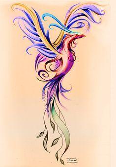 Image result for feminine phoenix tattoos