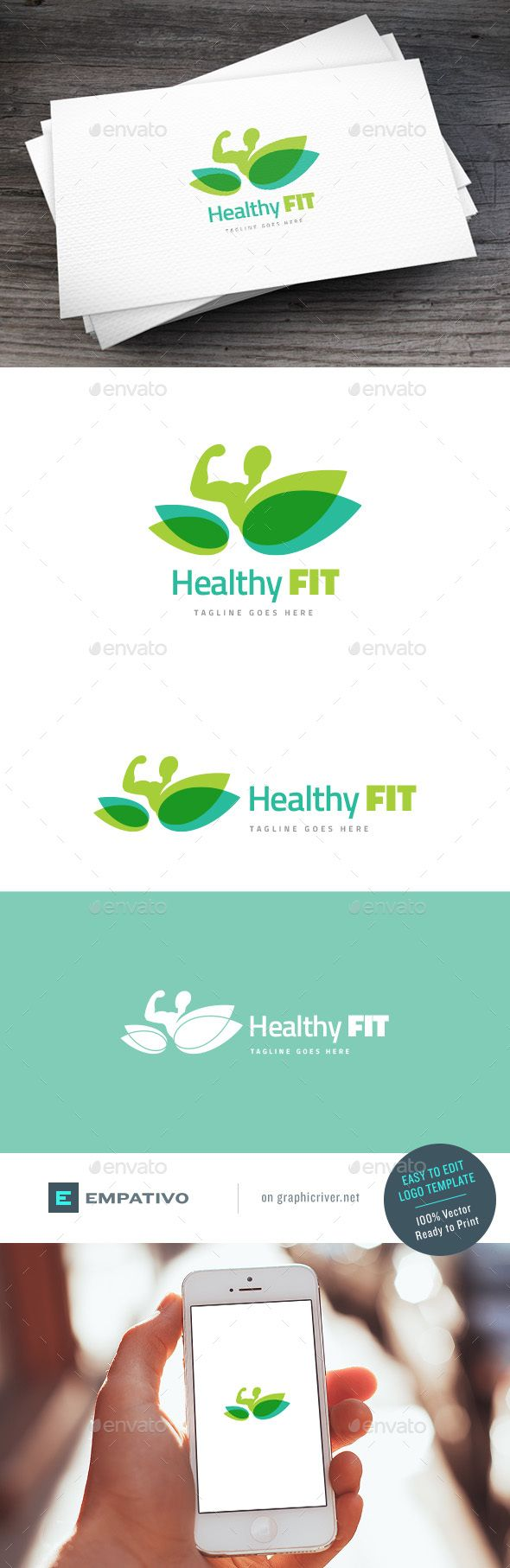 Healthy Fit Logo Template - Humans Logo Templates Download here : http://graphicriver.net/item/healthy-fit-logo-template/15733766?s_rank=173&ref=Al-fatih