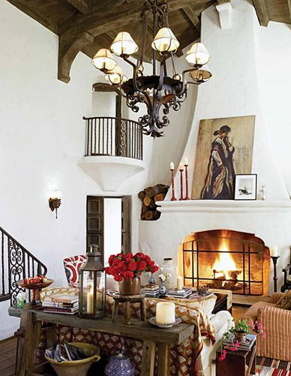 161 best images about santa barbara style on pinterest for Spanish revival interior design