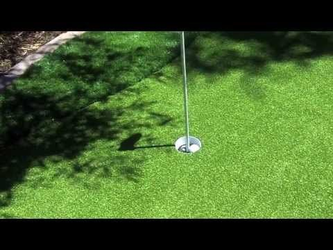How to install backyard putting green.