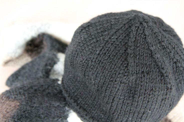 les tricots de Granny - bonnet homme en jersey