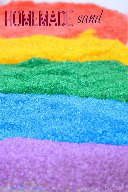 Maak JE Eigen Gekleurd zand-zo gemakkelijk en Zo VEEL goedkoper Dan de winkel gekocht spul!