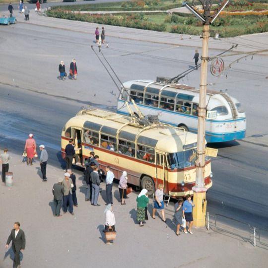 Trolleybuses. 1966. USSR