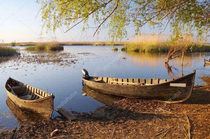 Fishing boats at Danube delta