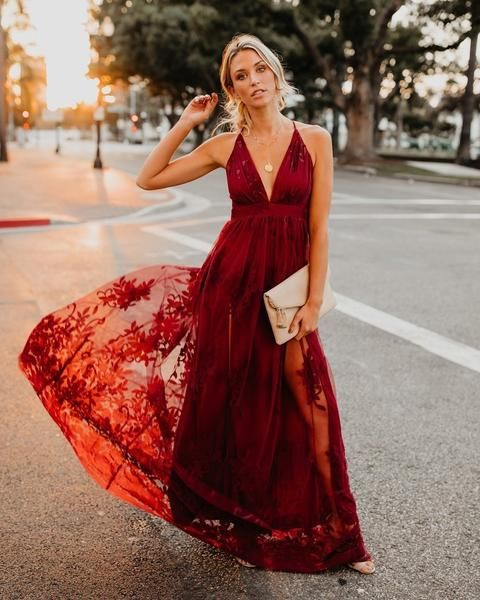 635df5ceac59 Steal the show in the Antonia Maxi Dress! This absolutely breathtaking wine  maxi dress is