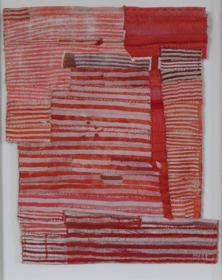 Stitched dyed cloth by Matthew Harris. Beautiful.