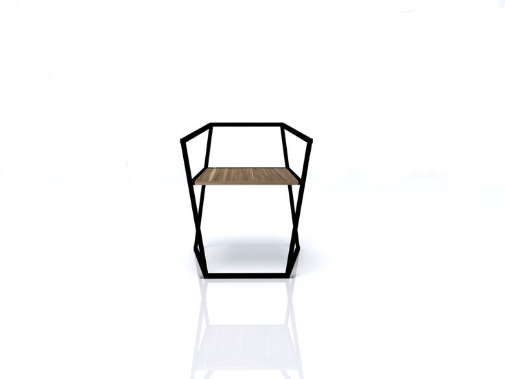 "Stackable set of modern chairs. You had us at ""steel base legs."" The juxtaposition of natural wood mixed with the steel accents makes this the sexiest set of chairs your home or office has ever seen. 
