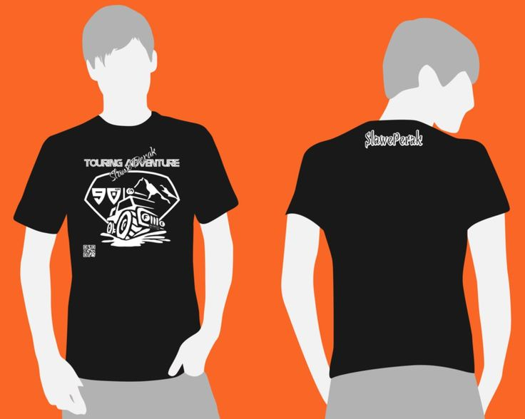 Black-t-shirt-upn Offroad Adventure Orange by syihab