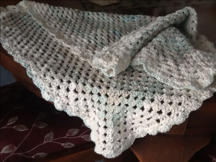 Baby blanket made with combed merino & dyed with Sue in Roxburgh
