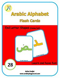 Flash Cards End Letter Shapes (Connected)