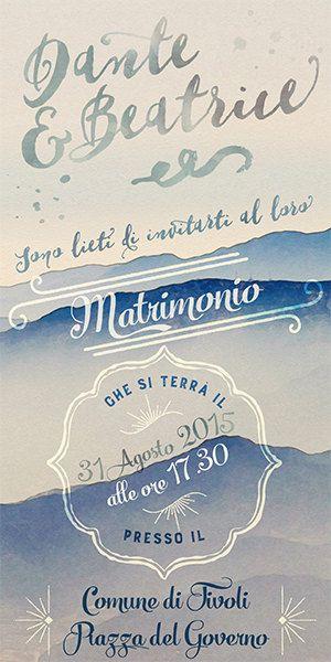 """Partecipazione di nozze """"Mountains"""" - Invito personalizzato stile vintage, per matrimoni invernali di GraphoMela su Etsy"""
