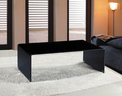 Black Glass Coffee Table Waterfall Style Bent Glass   eBay 329 + 79
