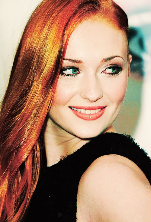 Stunning Sophie Turner, who plays Sansa Stark on Game of Thrones.  She is so gorgeous.
