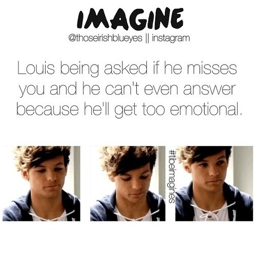 Louis imagine of course he misses me