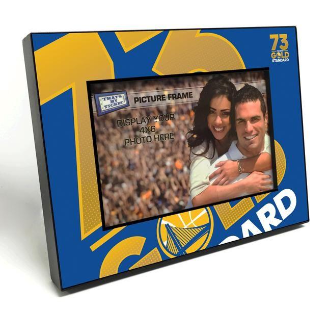 Golden State Warriors 73 Win Season Black Wood Edge 4x6 Inch Picture