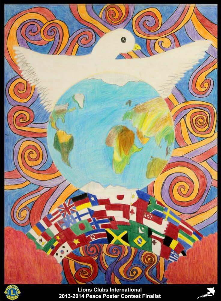 Finalist from Texas, USA (Crosby Lions Club) - 2013-2014 Peace Poster Contest