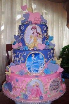Birthday, Cake Ideas, Disney Princess Cakes, Children Birthday Cake ...