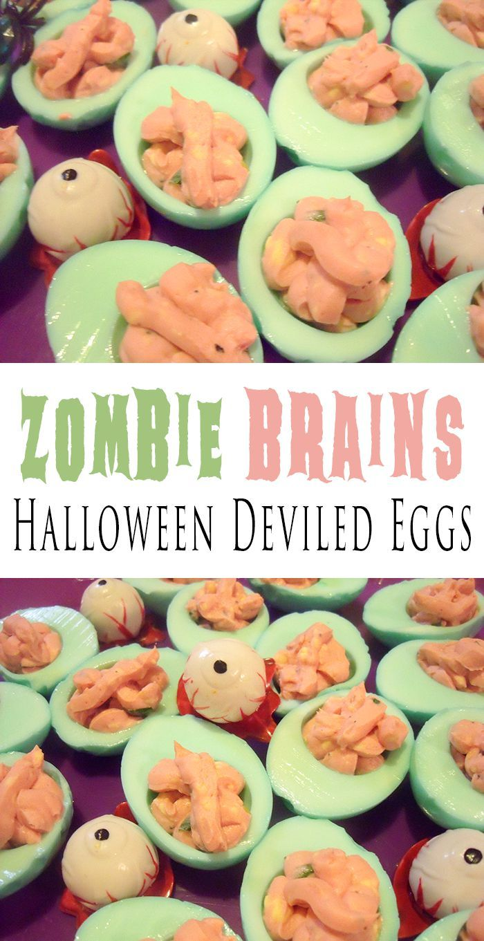 Zombie Brains | Halloween Deviled Eggs Recipe
