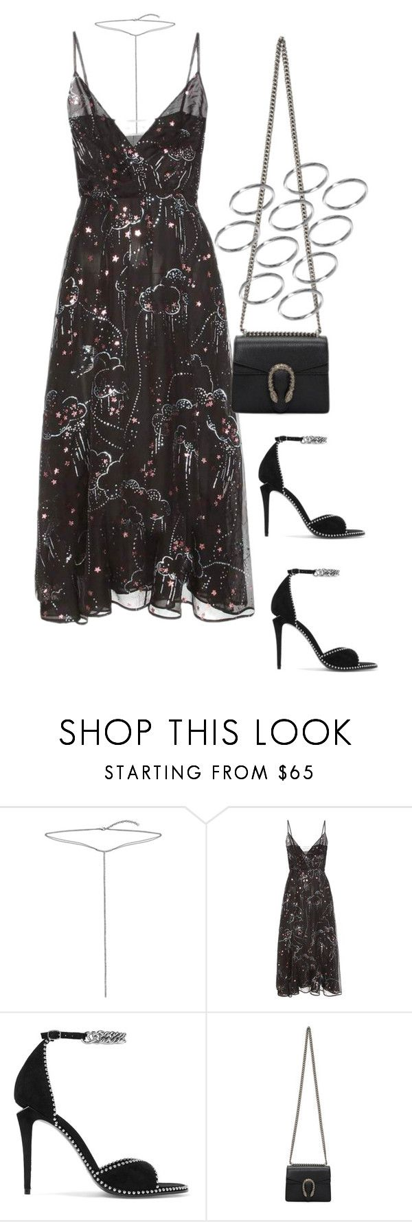 """""""Untitled #4312"""" by lily-tubman ❤ liked on Polyvore featuring Bling Jewelry, Valentino, Alexander Wang, Gucci and ASOS"""
