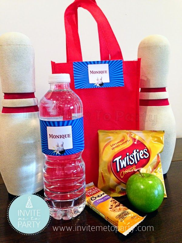 Bowling Party Snack Bag  Invite Me To Party: Ten Pin Bowling Party / Bowling Party