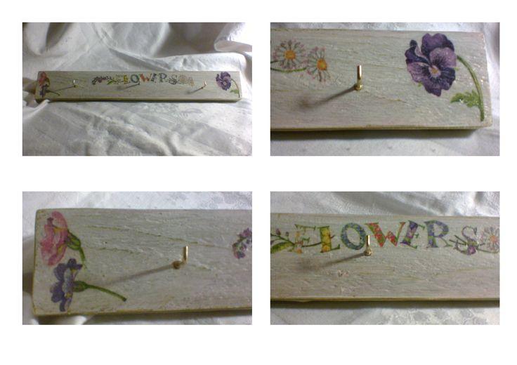 Koptatott fogas / kulcstartó virágokkal 32 x 405 cm 2,100 Ft