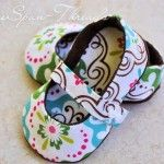 Free Sewing Pattern:  Baby Ballet Flats Slip On Shoes