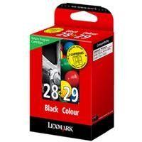 Lexmark 18C1520E 28/29 Tintenpatrone schwarz und dreifarbig Standardkapazität Schwartz: 175 Seiten, Farbe: 150 Seiten 2er-Pack Rückgabe