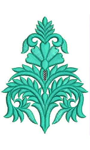 Fabric Floral Applique Embroidery Design
