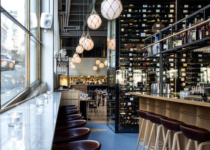 bronda restaurant decor inspired by scandinavian sea coast interiorzine - Beaded Inset Restaurant Decoration