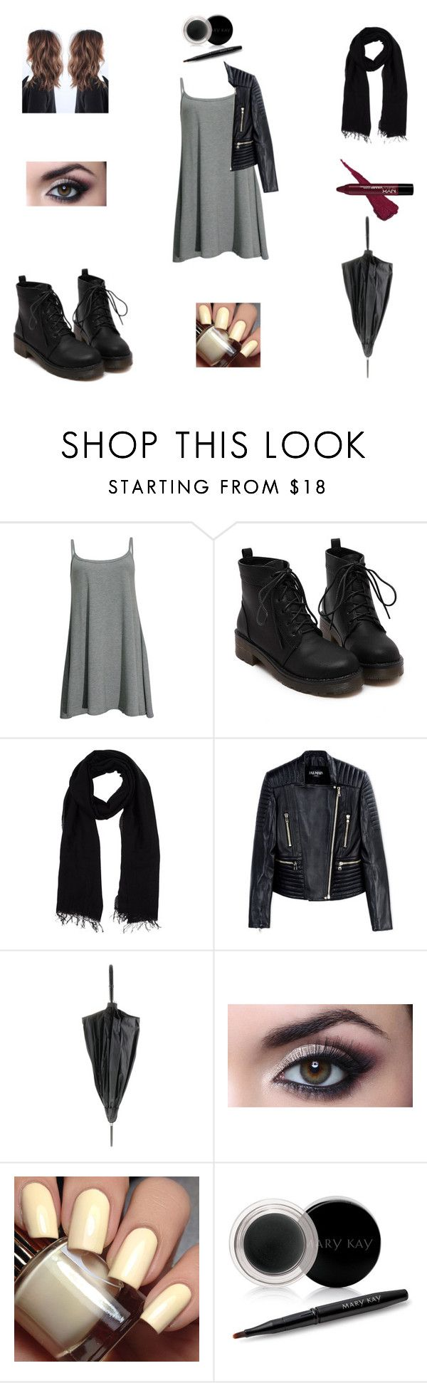 """""""Unbenannt #76"""" by geekyfashion1 ❤ liked on Polyvore featuring Blue Les Copains, Balmain, Jean-Paul Gaultier and Mary Kay"""