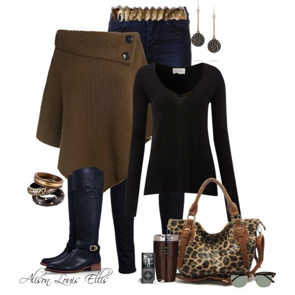 Leopard Purse and Boots :) Like the colors together