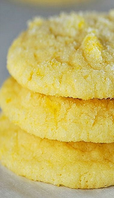Lemon Sugar Cookies Recipe ~ Taste like you've taken a big bite out of summer! So fresh and delicious, it'll become a favorite!