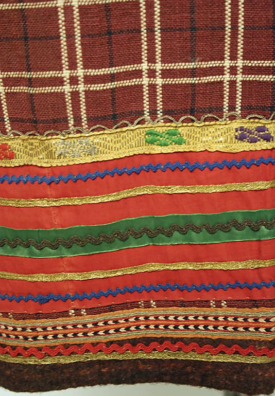 Skirt (detail), ca.1800–1943, Russian, wool