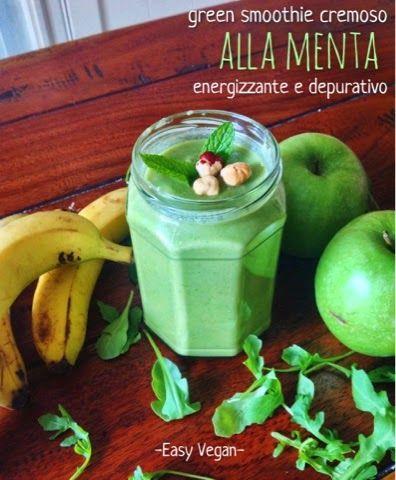Green smoothie cremoso depurativo ricco di calcio energizzante rinfrescante e…