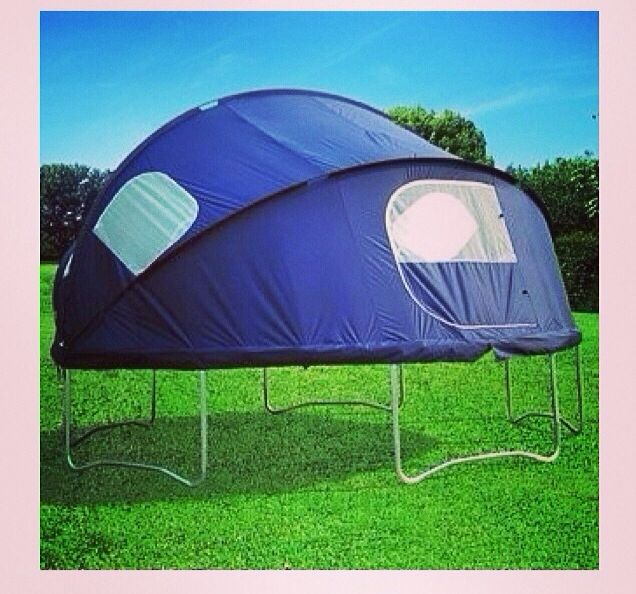 Tent On Trampoline. Cute For Camping Out :)