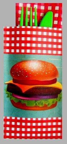 BBQ-Cheeseburger and Gingham