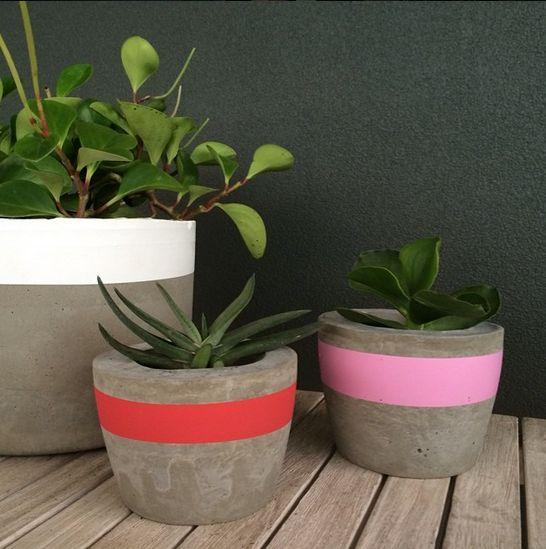 DIY : Pots en ciment - À la mode Montréal