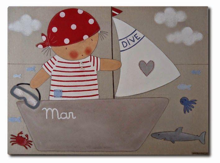 Las 25 mejores ideas sobre cuarto de beb marinero en - Cuadros habitaciones infantiles ...