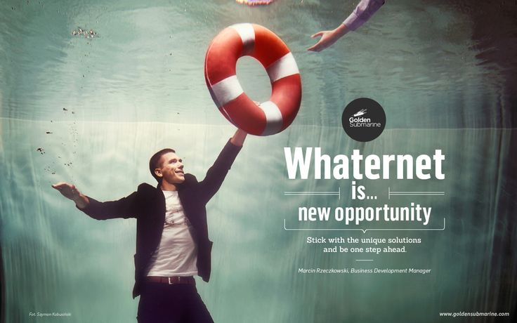 #whaternet is... new #opportunity. Stick to unique solutions to be one step ahead.